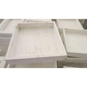 Azafata madera cuadrada 20x20x4cm Blanco