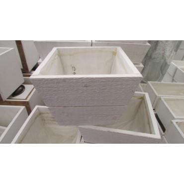 Tiesto madera 16x16x12.5cm blanco