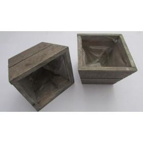Tiesto madera 12.5x12.5x9.5cm