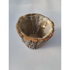 Tiesto corteza natural 14x14x11.5cm