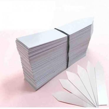 500 Etiquetas Clavar PVC 8x1,3 cm